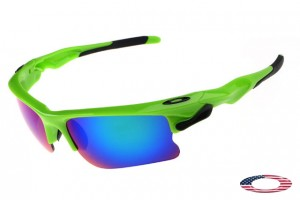 9cacf1a1a80ab Quick View · Knockoff Oakleys Fast Jacket Sunglasses Polished Green   Ice  Iridium. Sale