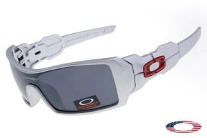 52fced74c98 Quick View · Replica Oakley Oil Rig Sunglasses White   Gray