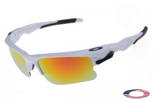 d595b97a1374e Fake Oakleys Fast Jacket Sunglasses White   Fire Iridium Wholesale Price