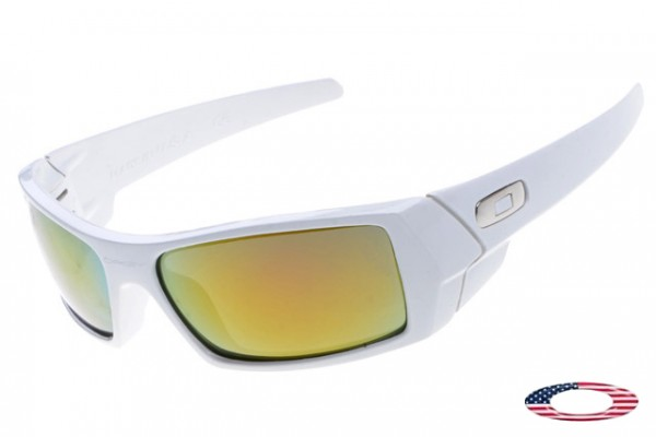 cbfe7b8b14 Discount Fake Oakley Gascan Sunglasses White   Fire Iridium
