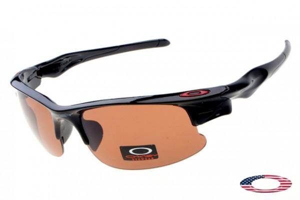 503fc588d68 Buy Fake Oakleys Fast Jacket Sunglasses Polished Black   Brown Free Shipping