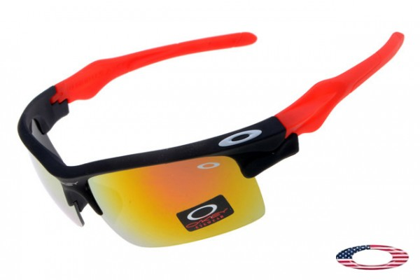 a694725566 Fake Oakleys Fast Jacket sunglasses Red Black   Fire Iridium Sale Free  Shipping