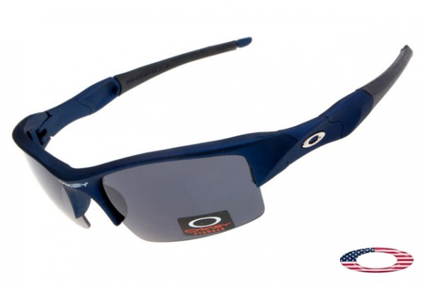 76597a08174f Replica Oakley Flak Jacket Sunglasses Blue   Gray Sale Free Shipping
